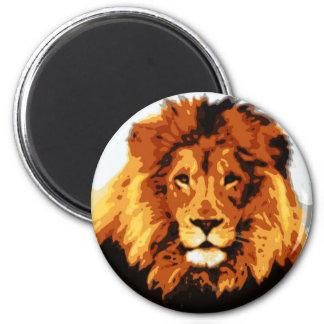 König des Dschungels Runder Magnet 5,7 Cm