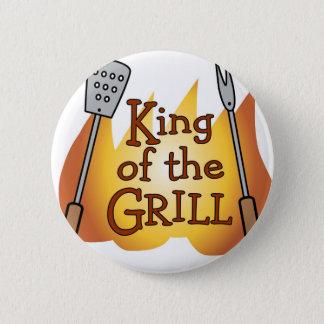 König des Grill-Knopf-Abzeichens Runder Button 5,1 Cm