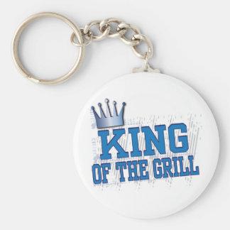 König des Grills Standard Runder Schlüsselanhänger