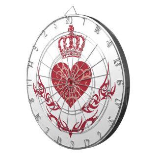 König des Herzens Dartscheibe