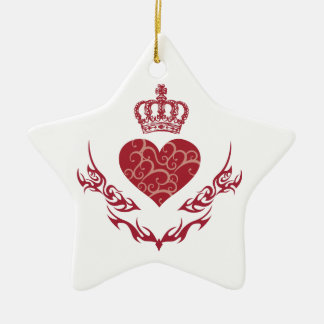 König des Herzens Keramik Ornament