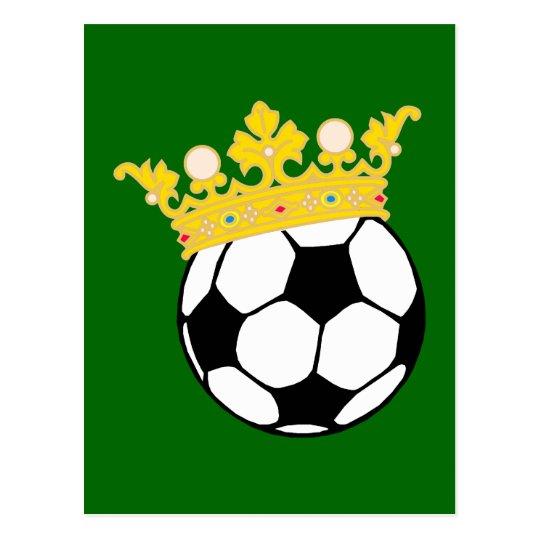 König Fußball king soccer Postkarte