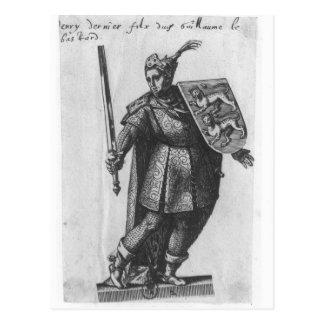 König Henry-I von England Postkarte