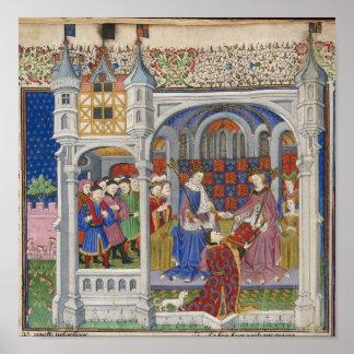 König Henry VI und Margaret von Anjou: Darstellung Plakat