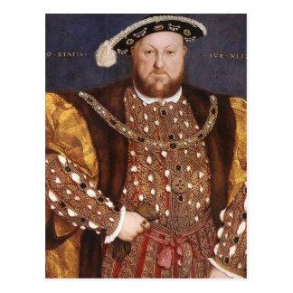 König Henry VIII Postkarte