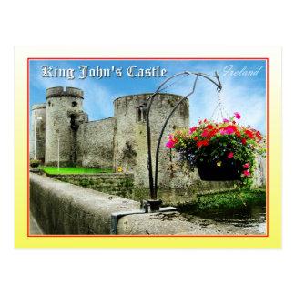 König Johns Castle, Limerick, Irland Postkarte