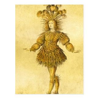 König Louis XIV von Frankreich Postkarte