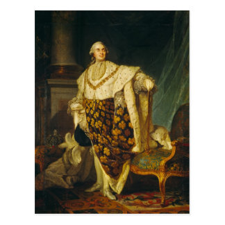 König Louis-XVI von Frankreich in den Krönungs-Rob Postkarte