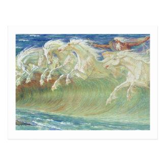 KÖNIG NEPTUN HORSESride THE WELLEN Postkarte