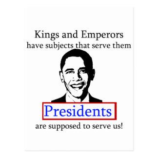 König Obama? Postkarte