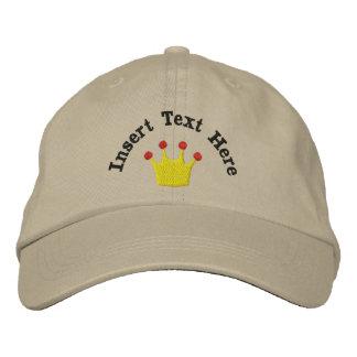König-oder Königin-Krone gestickter Hut