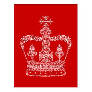 König-oder Königin-Krone Postkarte
