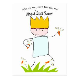 König Of Carrot Flowers Postkarte
