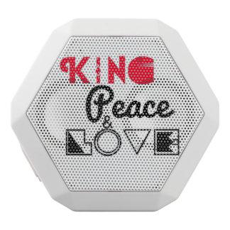 König Peace und Liebe Weiße Bluetooth Lautsprecher