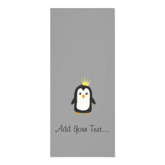 König Pinguin 10,2 X 23,5 Cm Einladungskarte