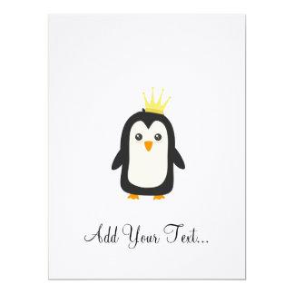 König Pinguin 16,5 X 22,2 Cm Einladungskarte