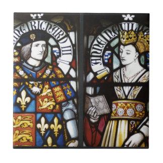 König Richard III und Königin Anne von England Keramikfliese