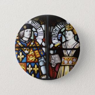 König Richard III und Königin Anne von England Runder Button 5,7 Cm