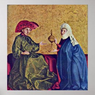 König Solomon und Königin von Sheba durch Konrad W Poster