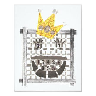 König Sudoku Invitations Karte