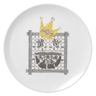 König Sudoku Melamine Plate Teller