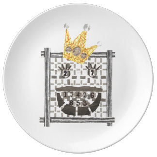 König Sudoku Porcelain Plate Teller