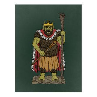 König Troll Postkarte