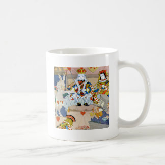 König u. Königin der Herzen am Schurken der Herzen Kaffeetasse