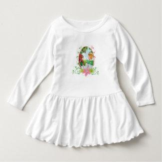 König-und Königin-Kleinkind-Rüsche-Kleid Kleid