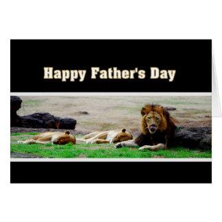 König Vatertags Tier-des glücklichen Karte