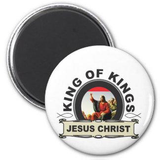 König von Königen JC Runder Magnet 5,1 Cm