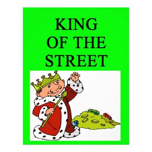 König von Wall Street Bedruckte Flyer