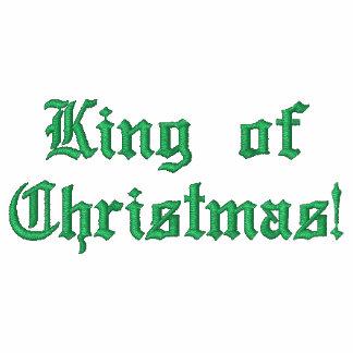 König von Weihnachten! Gestickter grundlegender Zi Besticktes Kapuzenpulli