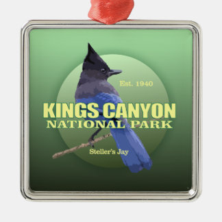 Könige Canyon NP (Stellers Jay) GEWICHT Silbernes Ornament