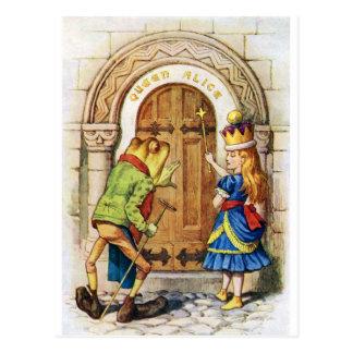 Königin Alice u. der Frosch im Märchenland Postkarte