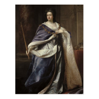 Königin Anne, 1703 Postkarte