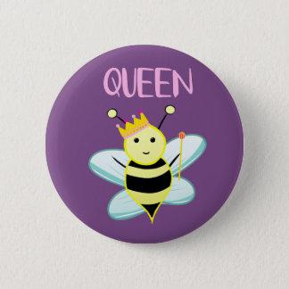 Königin BIENEN-Abzeichen! Runder Button 5,7 Cm