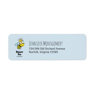 Königin-Bienen-niedliche Hummel-Biene mit Krone Rücksendeetiketten