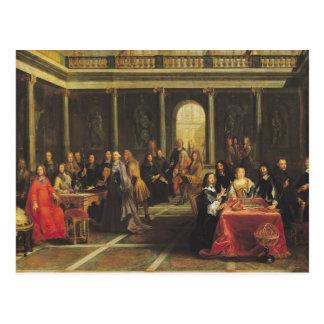 Königin Christina von Schweden und von ihrem Postkarte