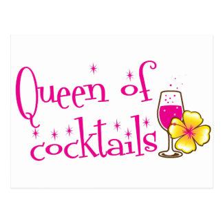 Königin der Cocktails! mit dem Weinglas tropisch Postkarte