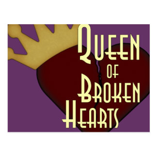 Königin der defekten Herzen Postkarte