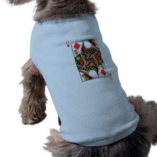 Königin der Diamanten - addieren Sie Ihr Bild Ärmelfreies Hunde-Shirt