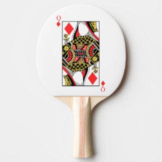 Königin der Diamanten - addieren Sie Ihr Bild Tischtennis Schläger