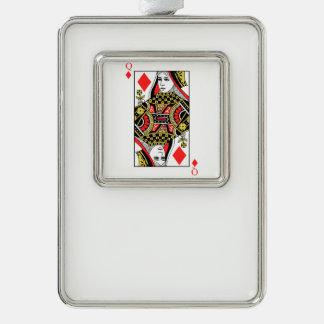 Königin der Diamanten Rahmen-Ornament Silber