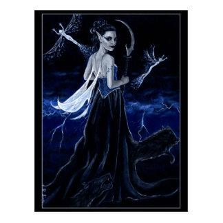 Königin der dunklen Jagdpostkarte Postkarte