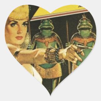 Königin der Frosch-Männer Herz-Aufkleber