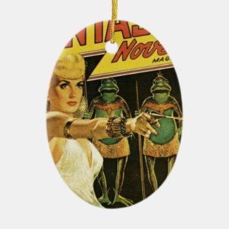 Königin der Frosch-Männer Keramik Ornament