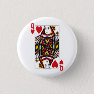 Königin der Herzen Runder Button 3,2 Cm