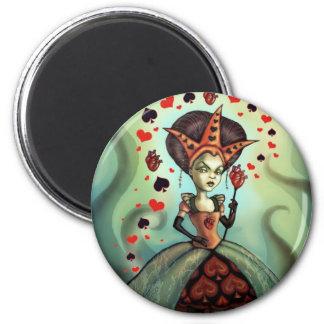 Königin der Herzen Runder Magnet 5,1 Cm