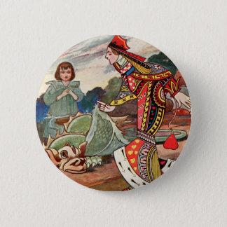 Königin der Herzen und des Gryphon Runder Button 5,1 Cm
